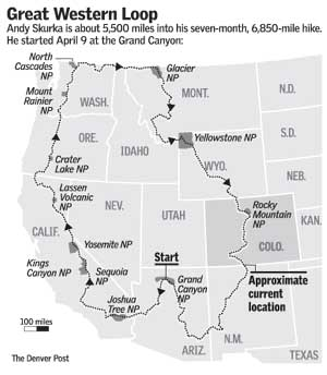 National Scenic Trails Covers All The Major Hiking Trails In The - Map of us hiking trails