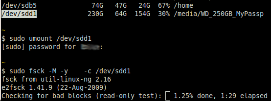 Linux - Disk Partition Checkin...