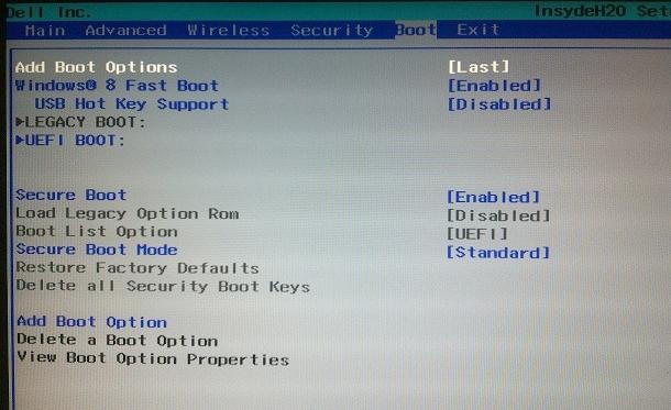 Images of Some UEFI Boot Menus