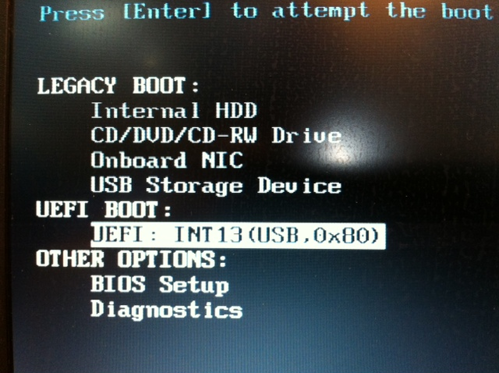 Images of Some UEFI Boot Menus