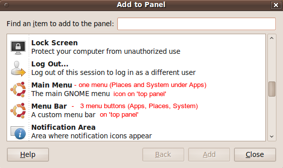 TOP 'panel' of the MATE desktop ('recovery' - for Linux Mint MATE users)