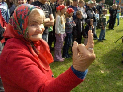 Old Woman Middle Finger